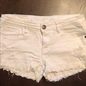 Women's White Jean Shorts